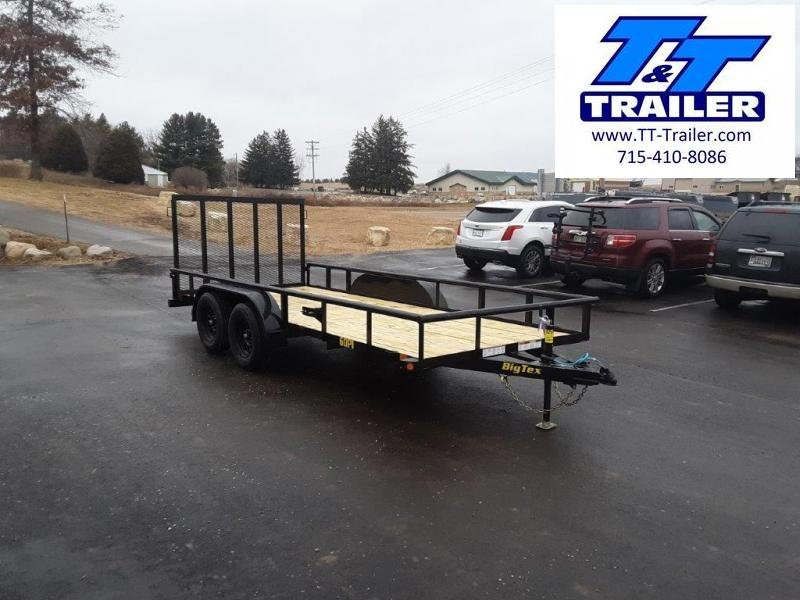 "2021 Big Tex 60PI 77"" x 16' Tandem Axle Utility Trailer"