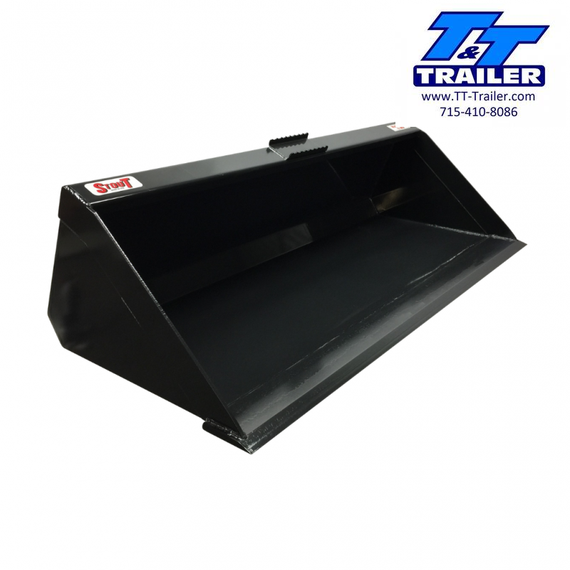 """2021 Stout 72"""" Material Bucket Skid Steer Attachment Attachment"""