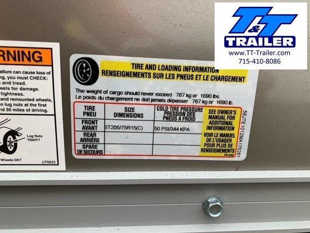 2021 United Trailers 6 x 10 V-Nose Enclosed Cargo Trailer