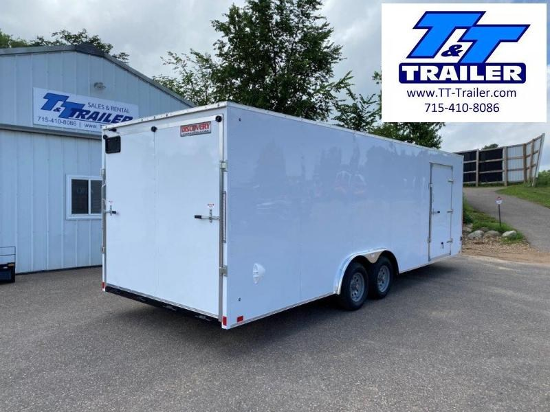 2021 Discovery Challenger ET 8.5 x 24 V-Nose Enclosed Combination Car and Toy Hauler Trailer
