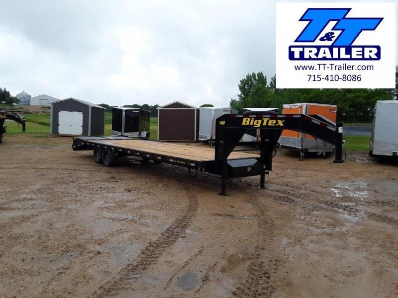 "2021 Big Tex 14GN 102"" x 30' Single Wheel Tandem Gooseneck Trailer"