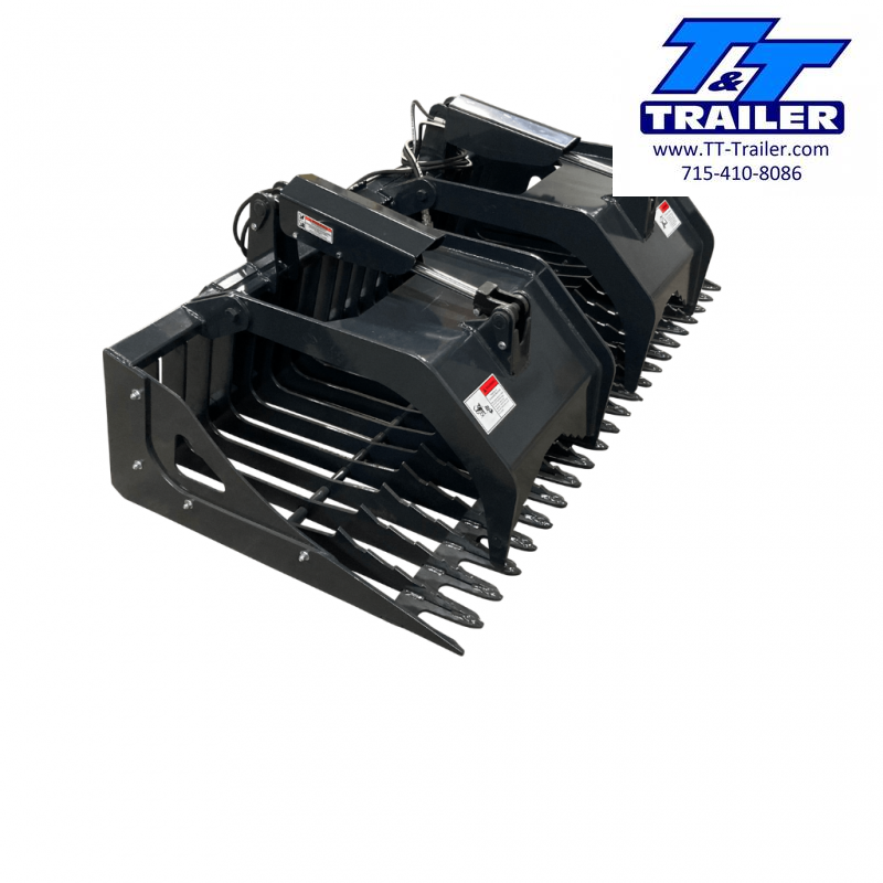 """2021 Stout 78"""" (78-3) Rock Grapple Skid Steer Attachment"""