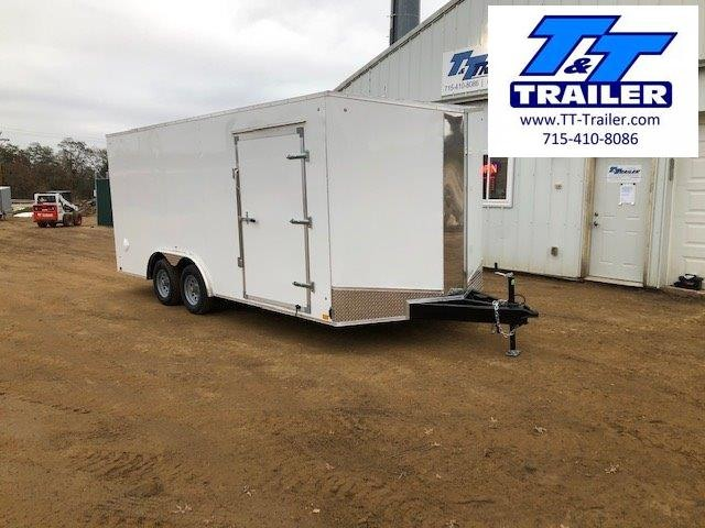 2021 Discovery Challenger ET 8.5 x 18 V-Nose Enclosed Combination Car and Toy Hauler Trailer
