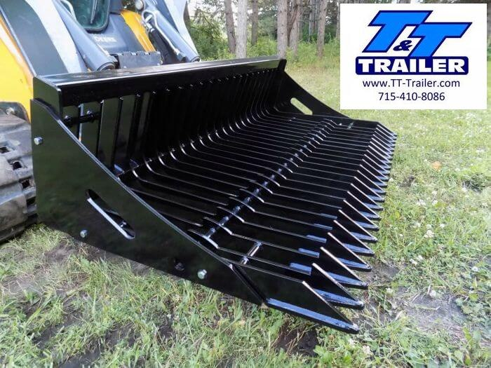 "FOR RENT - Rock Bucket Attachment for Bobcat (68"")"