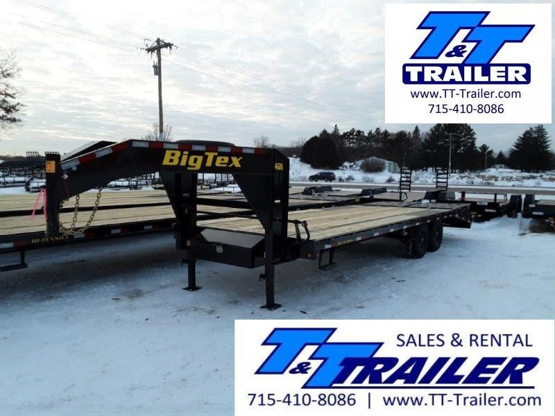 "2021 Big Tex 14GN 102"" x 25' Single Wheel Tandem Gooseneck Trailer"