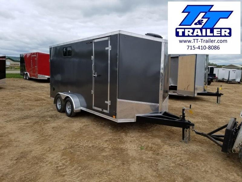 FOR RENT - 7 x 16 V-Nose Enclosed Cargo Trailer