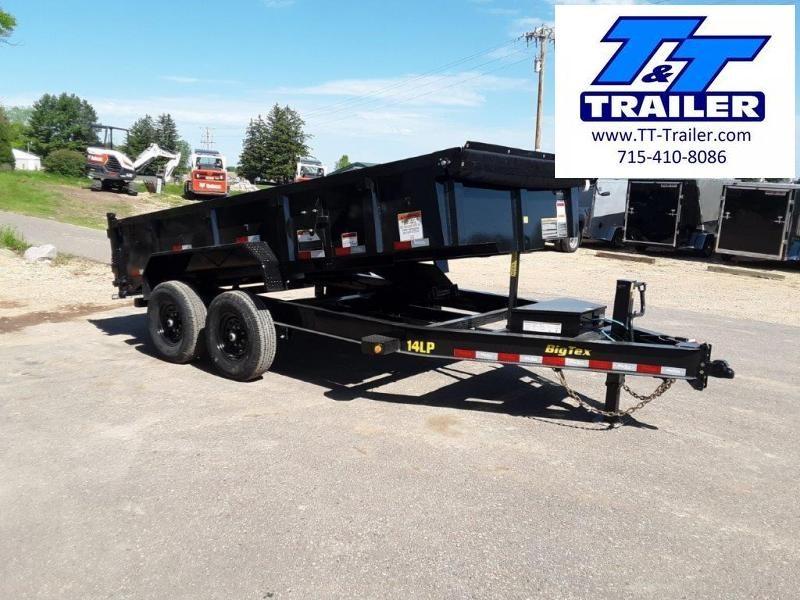 "2021 Big Tex 14LP 83"" x 14' Heavy Duty Extra Wide Low Profile Dump Trailer"