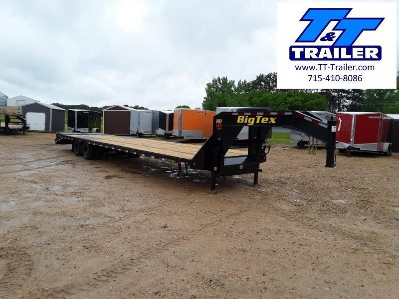 FOR RENT - 102 x 40 (35+5) Heavy Duty Gooseneck Deckover Trailer w/ Monster Ramps