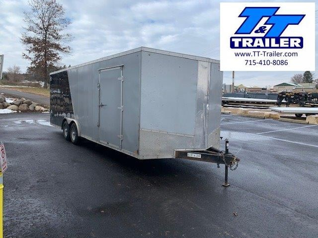 Used 2020 Discovery Challenger SE 8.5 x 24 V-Nose Enclosed Combination Car and Toy Hauler Trailer