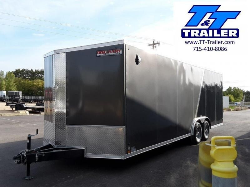 2022 Discovery Challenger SE 8.5 x 24 V-Nose Enclosed Combination Car and Toy Hauler Trailer