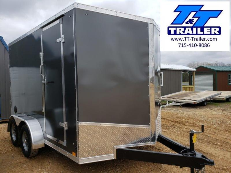 FOR RENT - 7 x 12 V-Nose Enclosed Cargo Trailer