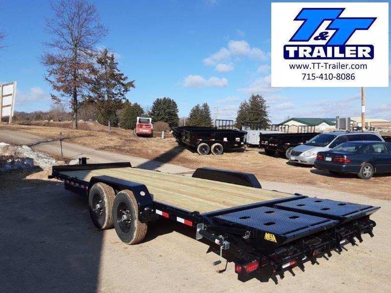 "2021 Big Tex 14ET 83"" x 24' Heavy Duty Equipment Trailer with Mega Ramps"
