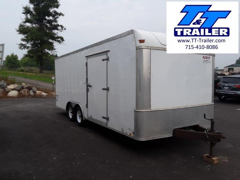 Used 2007 United 8.5 x 20 Enclosed Combination Car and Toy Hauler Trailer