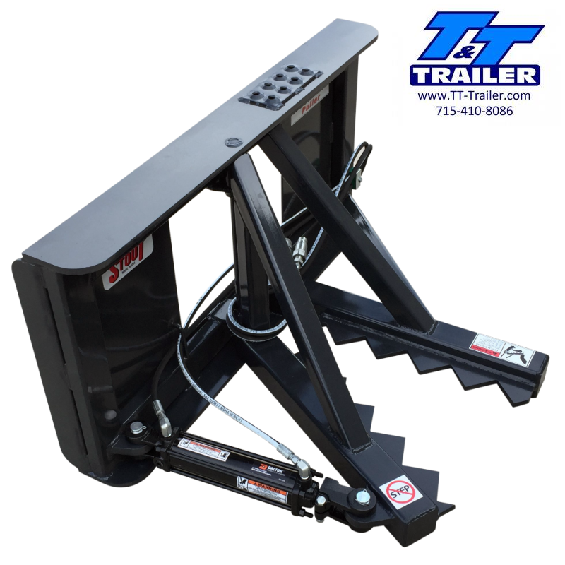 2021 Stout Tree and Post Puller Skid Steer Attachment