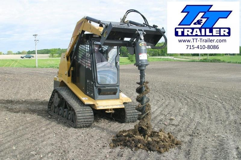 FOR RENT - Earth Auger Attachment for Bobcat (Bit Priced Separate)