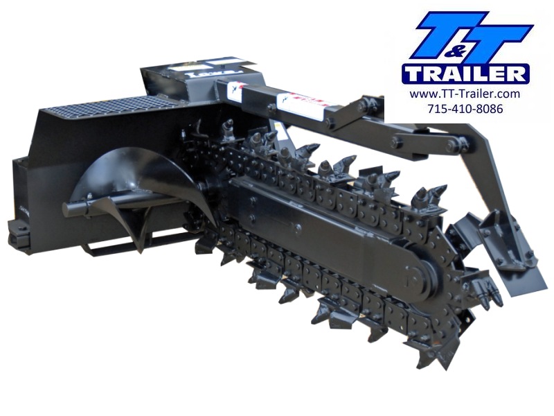 """2021 Lowe XR-14 36"""" Trencher Skid Steer Attachment"""