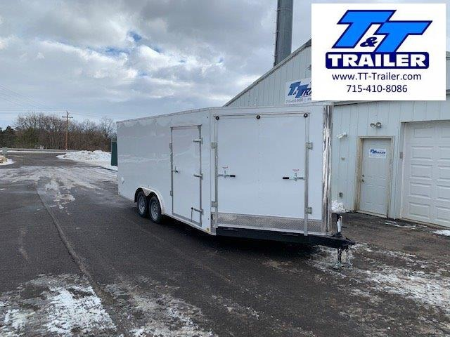 2021 Discovery Challenger ET 8.5 x 18 + 5' V-Nose Enclosed Combination Car and Toy Hauler Trailer