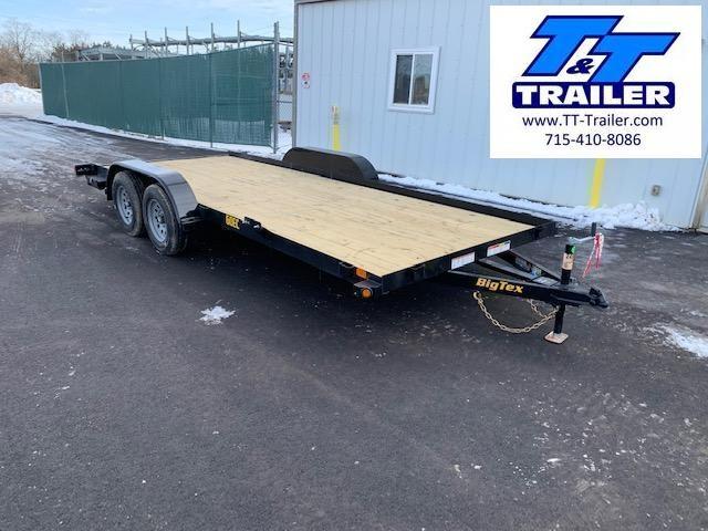 """2022 Big Tex 60EC 83"""" x 18' Car Hauler Trailer with Ramps"""