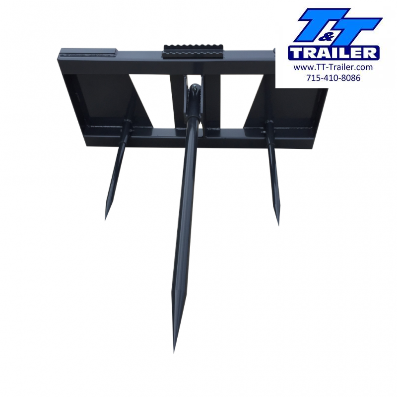 2021 Heavy Duty Bale Spear Skid Steer Attachment
