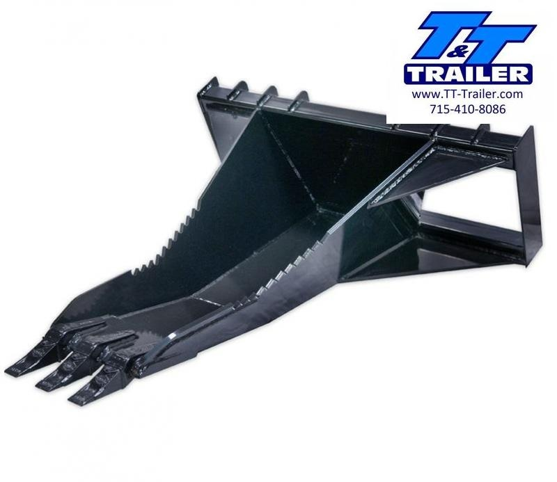 FOR RENT - Stump Bucket Attachment for Bobcat