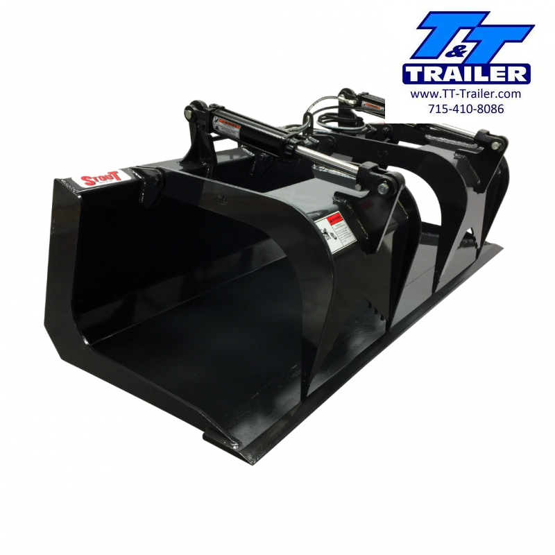 "2021 Stout 72"" Grapple Bucket Skid Steer Attachment Attachment"