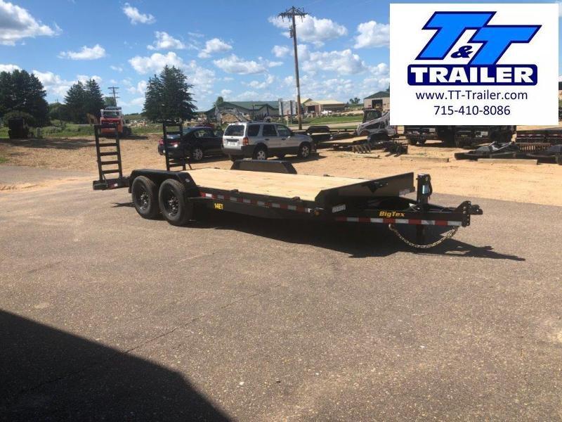 "2021 Big Tex 14ET 83"" x 20' Heavy Duty Equipment Trailer with Knee Ramps"