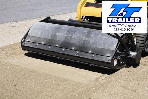 """FOR RENT - Roller - 72"""" Vibratory Smooth Drum Attachment for Bobcat"""