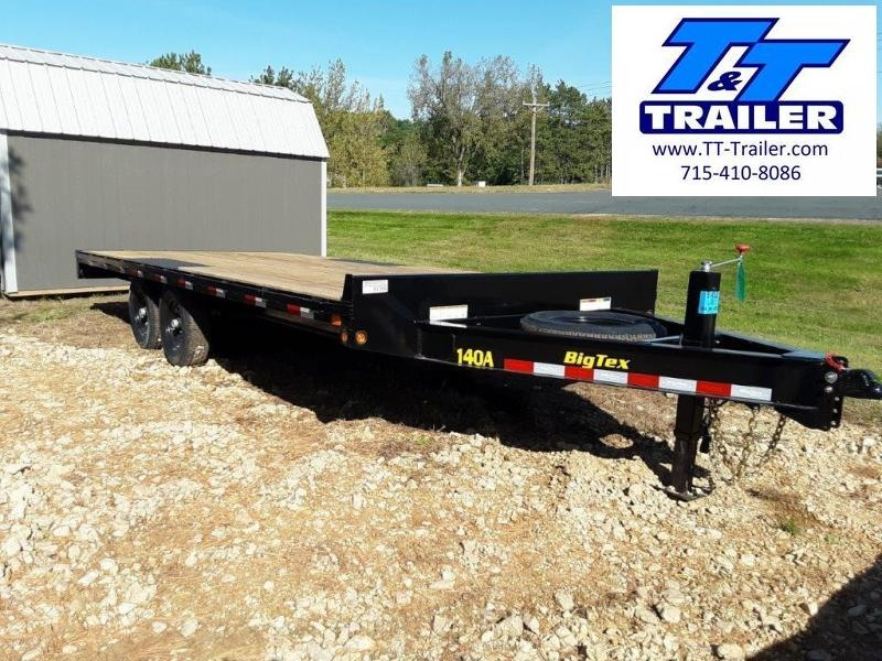 FOR RENT - 102 x 22 Deckover Equipment Trailer w/ Pull Out Ramps
