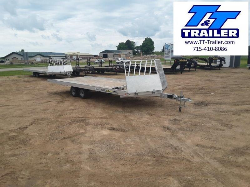 FOR RENT - 8.5 x 22 4 Place Open Snowmobile Trailer