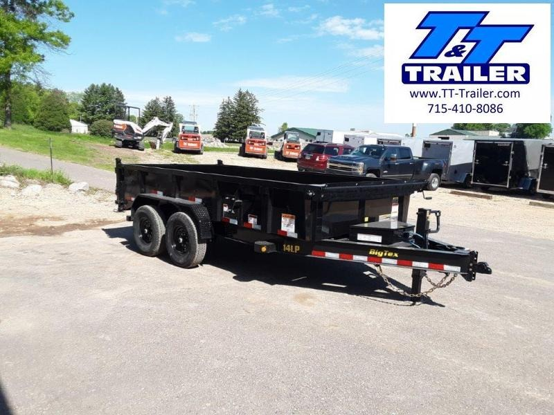 """FOR RENT - 83"""" x 14' Dump Trailer w/ 2' High Sides"""