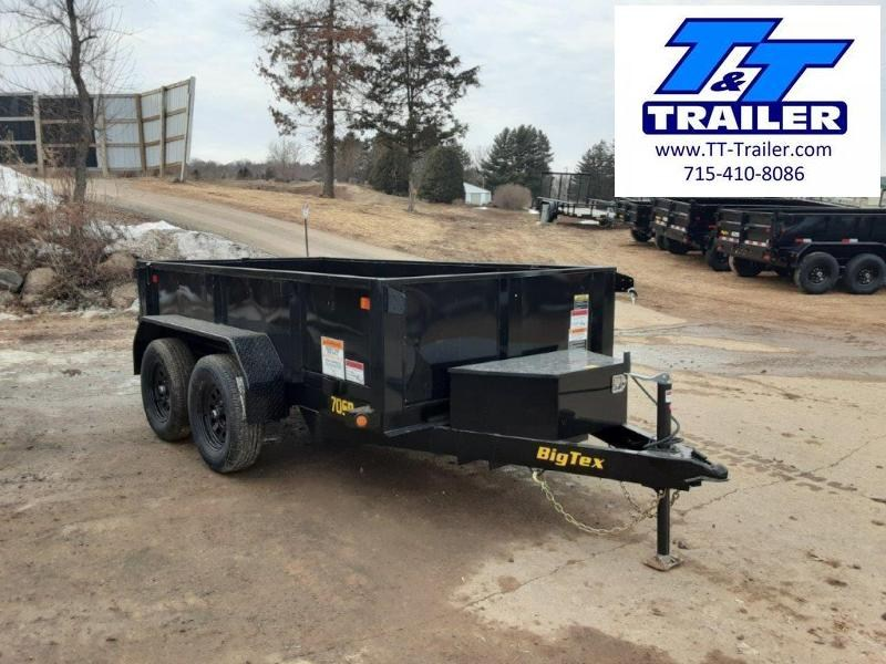 "2021 Big Tex 70SR 60"" x 10' Single Ram Dump Trailer"