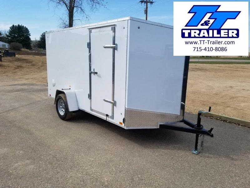 FOR RENT - 6 x 12 V-Nose Enclosed Cargo Trailer