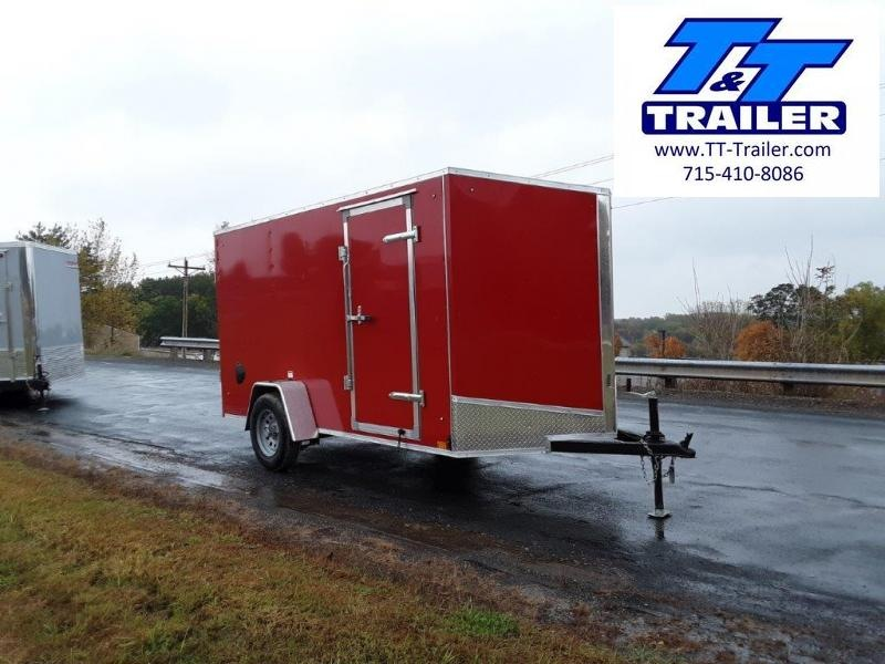FOR RENT - 6 x 12 V-Nose Enclosed Cargo Trailer