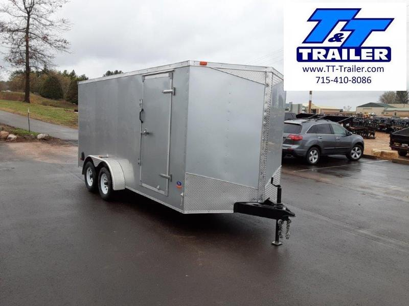 Used 2015 MTI 7 x 16 V-Nose Enclosed Cargo Trailer