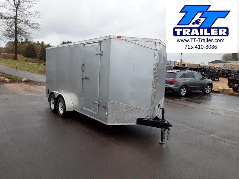 Used 2015 MTI 7 x 16 V-Nose Enclosed Cargo Trailer