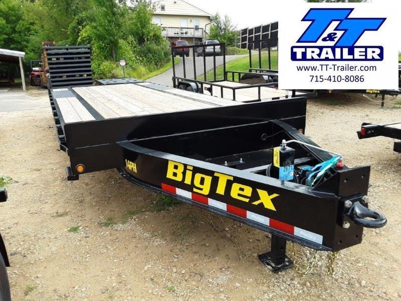 FOR RENT - 102 x 25 Deckover Equipment Trailer w/ Mega Ramps