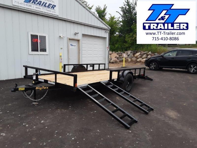 "2022 Big Tex 35SA 83"" x 14' Side Ramp Utility Trailer"