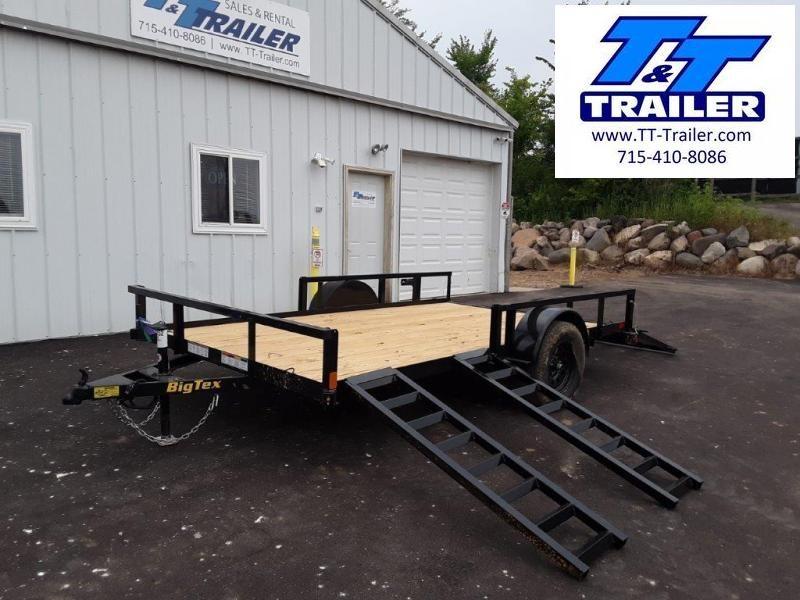 "2022 Big Tex 35SA 83"" x 12' Side Ramp Utility Trailer"