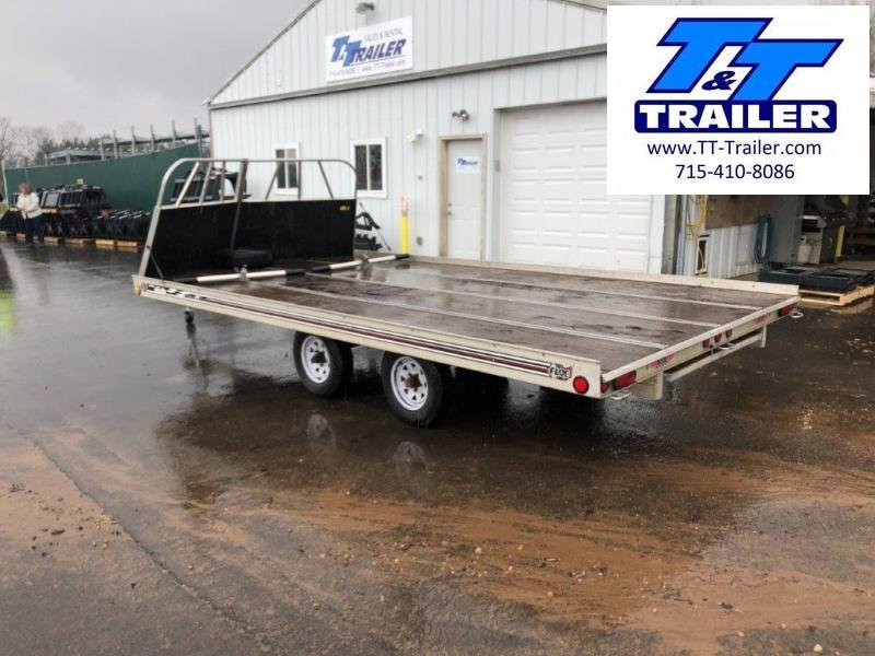 Used 2005 Floe 8.5' x 16' 3 Place Snowmobile Trailer