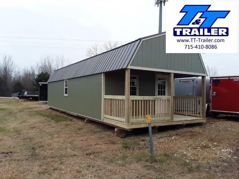 Premier Urethane Lofted Barn Cabin (14' x 40') Barn
