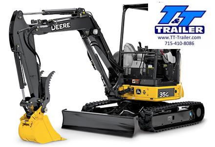 FOR RENT - 35G John Deere Mini Excavator with Thumb