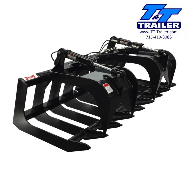 "2021 Stout 72"" (72-8) Brush Grapple Skid Steer Attachment Attachment"