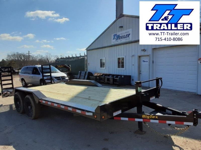 "2021 Big Tex 14ET 83"" x 20' Heavy Duty Equipment Trailer with Knee Ramps"
