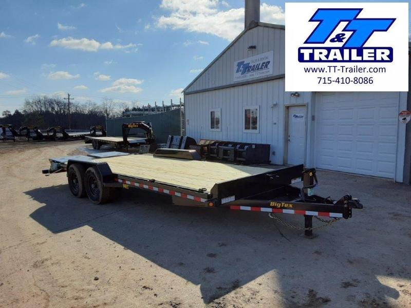 "2021 Big Tex 14ET 83"" x 20' Heavy Duty Equipment Trailer with Mega Ramps"