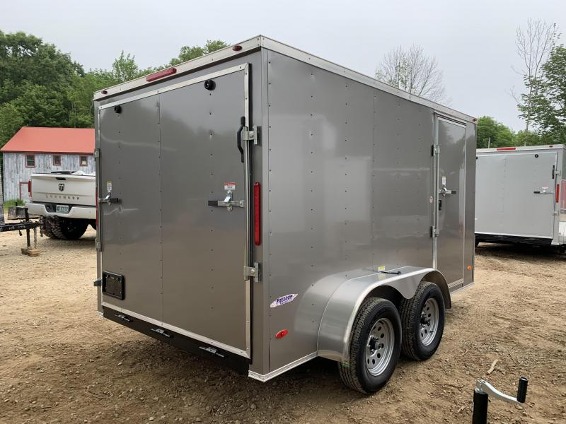 2019 Freedom Trailers 7x12 Pewter DUAL AXLE Enclosed Cargo Trailer