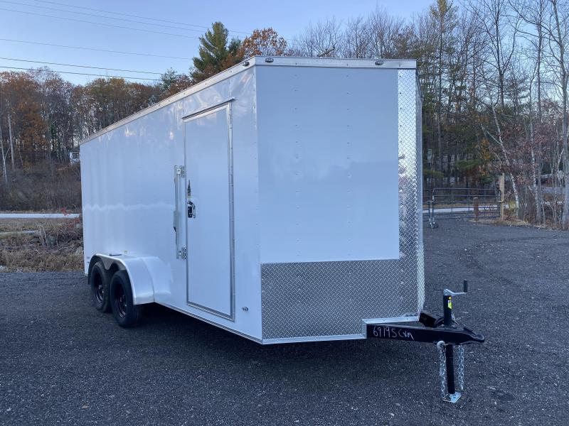 2021 Freedom Trailers 7X16 EXTRA HEIGHT HD ROOF RAMP Enclosed Cargo Trailer