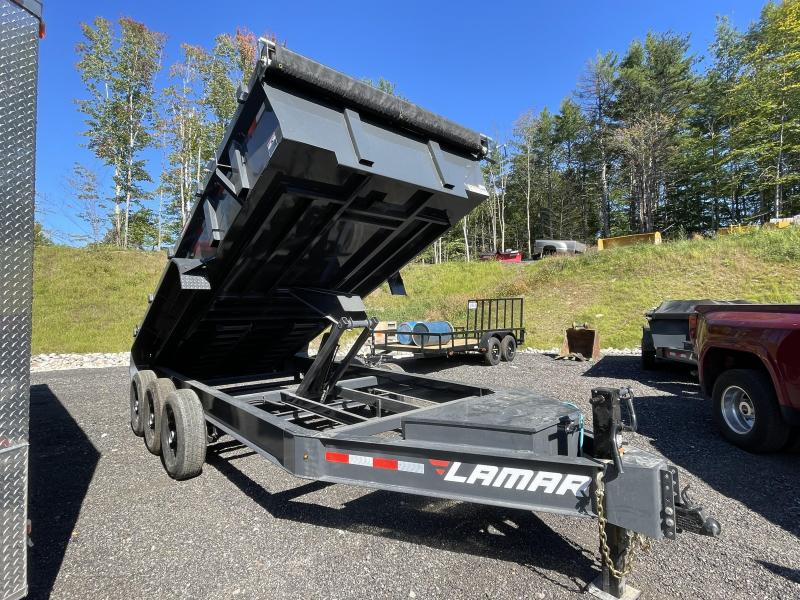 2021 Lamar Trailers 7x16 21K Cement Gray Loaded Dump Trailer