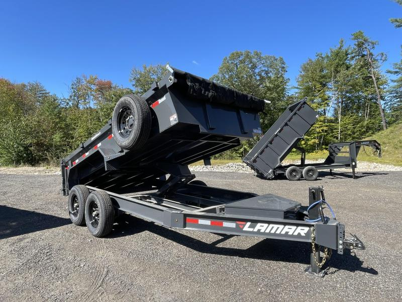 2021 Lamar Trailers 7x14 14K Cement Gray Dump Trailer