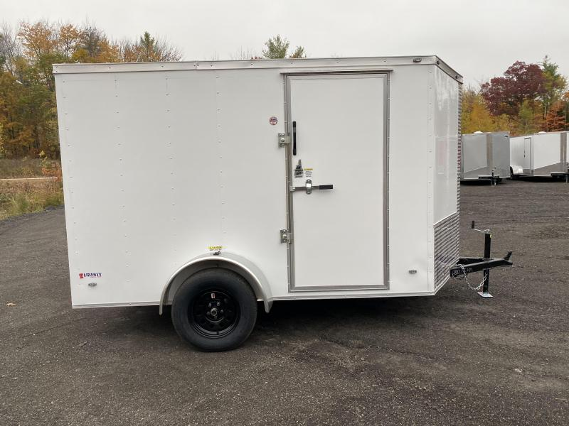 2021 Freedom Trailers 6x10 BLACK WHEELS BARLOCK Enclosed Cargo Trailer