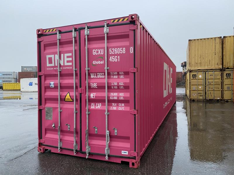 8x40HC 9.5 Tall STORAGE CONTAINER Metal Building